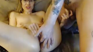 Hot couple finger fucking