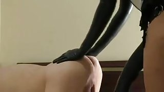 Femdom: 20inch strapon & Bicep unfathomable fisting - beyond elbow