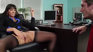 Office whore is being drilled hard
