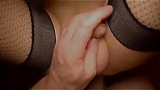 Moaning sissy taking big cock