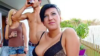 Emylia Argan is s shirt haired brunette with perfect body. She turns guy on with her round ass and big tits without taking off her skin tight bra and panties. Shes a smoking hot brunette!