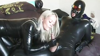 Latex Catsuit Fast Suck Off