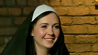 Angell Summers is a sinful nun that deserves a punishment. Curvy brunette with big ass gets tied, spanked and sexually dominated by two men in black. Its a painful punishment!