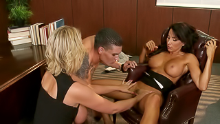 Hardcore sex therapy with a couple of slutty milfs
