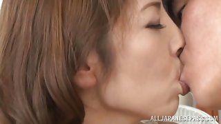 Arousing Japanese milf Chieri Matsunaga gets hardcore dick ride