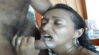 Threesome with Italian Gypsy MILF