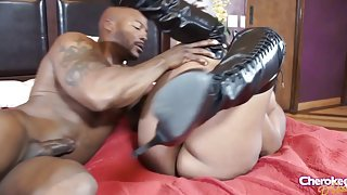 Black slut Jayden Starr fucked by her Ebony lover